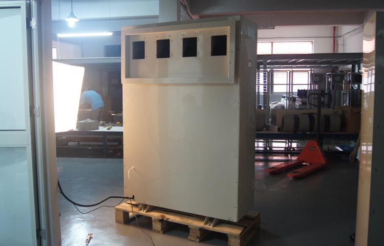 湿腾电器20公斤前进后出管道除湿机GST-20产品背部展示图
