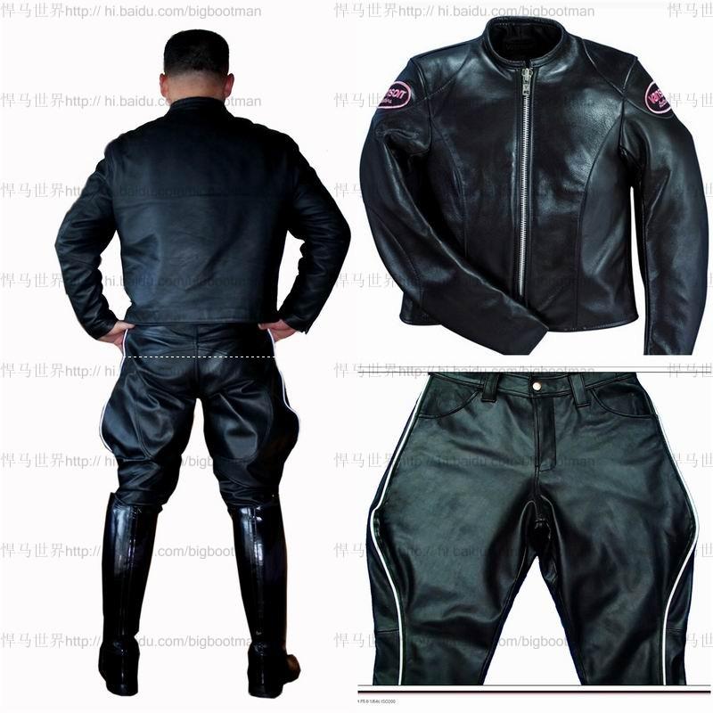 Кожаные брюки Bootman 004