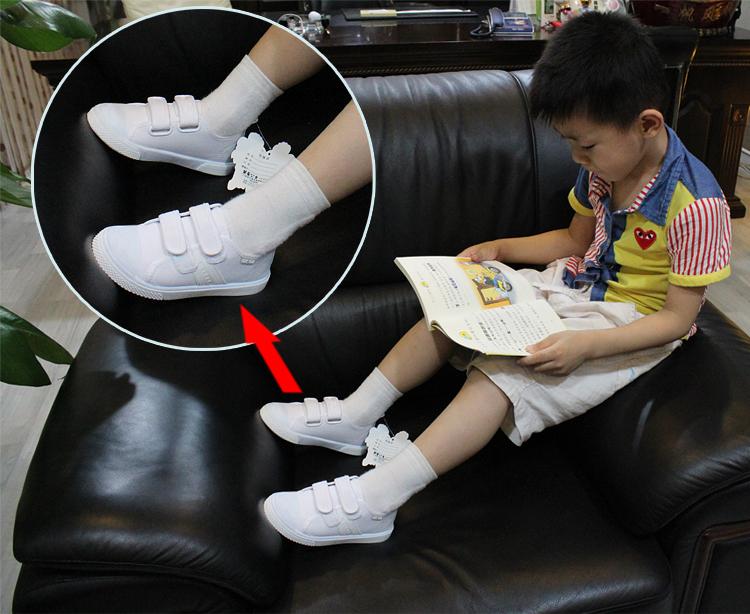 儿童 鞋垫/慧星公主学生必备新款儿童白布鞋珠帆布鞋女童男童鞋真皮透气...