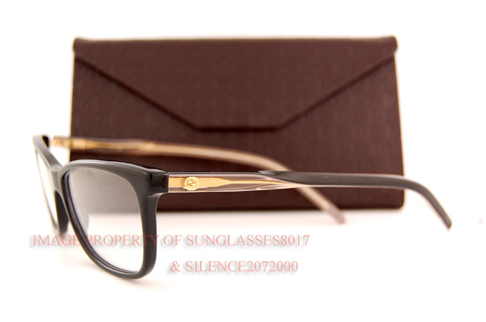 Brand New GUCCI Eyeglass Frames 3643 0WM Black for Women ...
