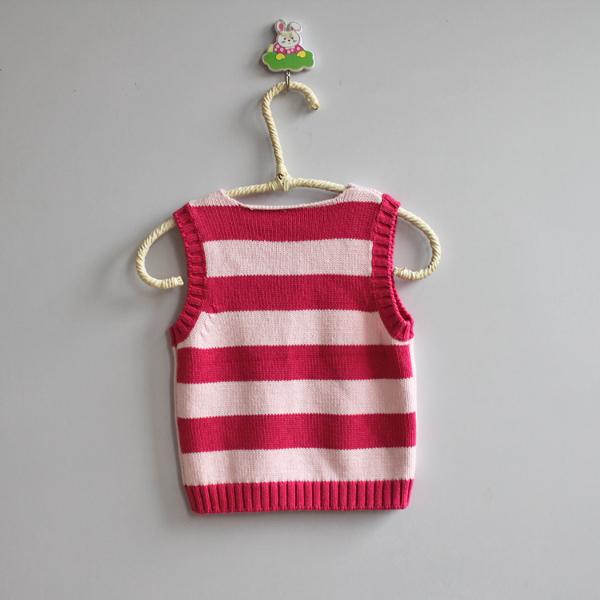 宝宝针织衫马甲坎肩毛衣背心马夹粉色 - 米虫的蜗居 - 米虫的蜗居