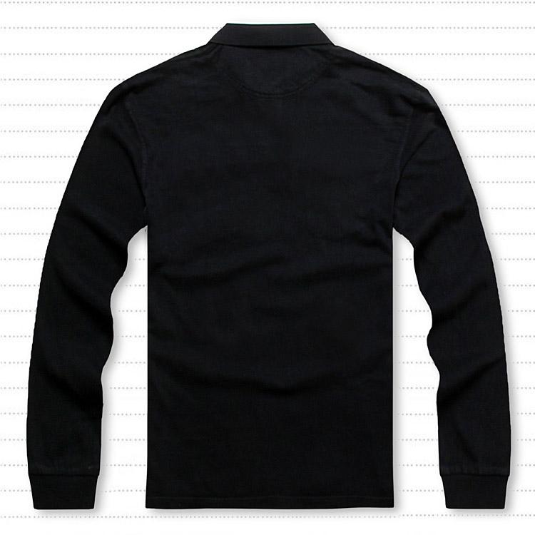 Рубашка поло Негабаритных мужчин плюс удобрения увеличилась джип евро жира высокого качества с длинным рукавом из чистого хлопка лацкане рубашки поло темно-фиолетовый
