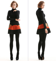 FREE   SHIPPING  Mirror fun 2012 winter colorant match knitted skirt short skirt  A  love  of  gift