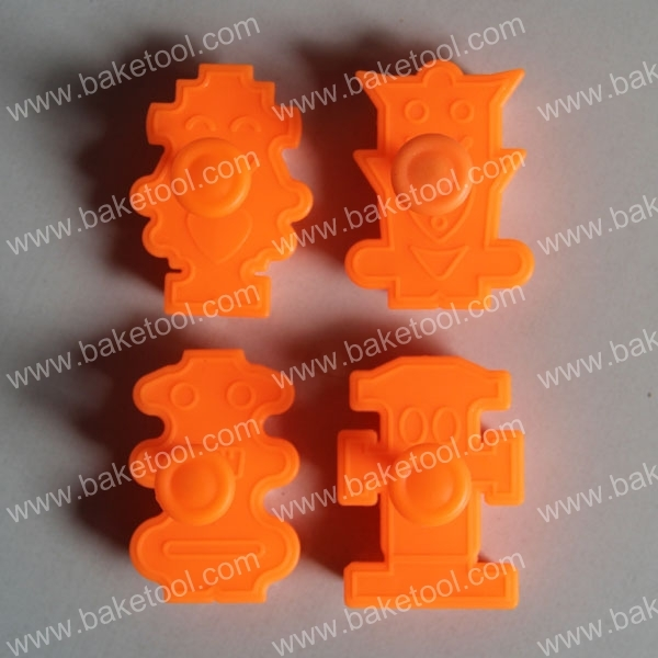 baketool 4 sets of 3D stereoscopic robot springs printing mold cookie mold cookie mold fondant mold wholesale DIY