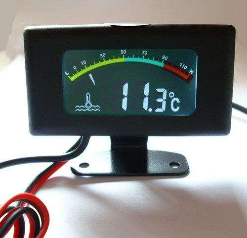 Car Water Temperature Gauge Tuning Meter Color Screen Digital Strap 10mm Sensor