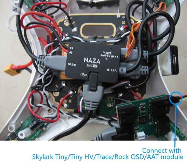 Skylark Osd Adapter For Dji Naza Lite    V2    Wookong    A2