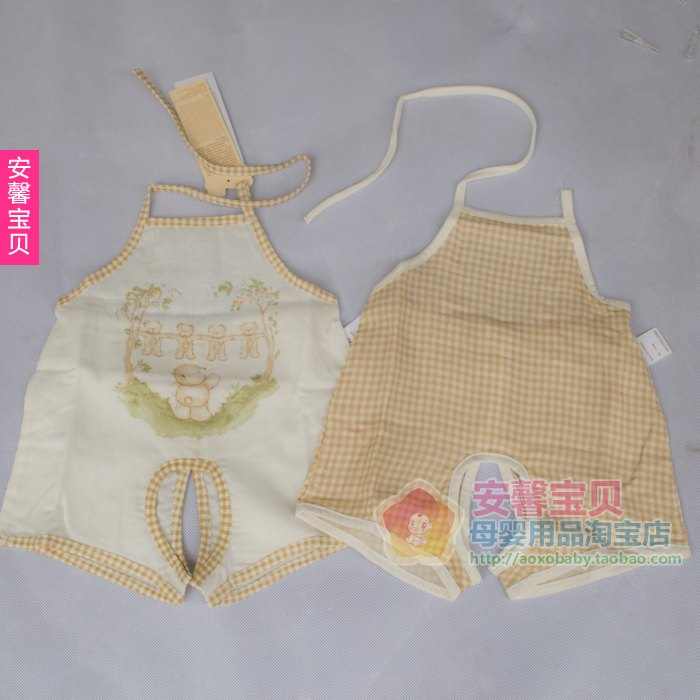 Lucky BaBy Rabbi genuine monopoly 13 Summer 59-73 LMAEC372, childish Bear the romper stomachers 2 pcs ultra-thin gauze