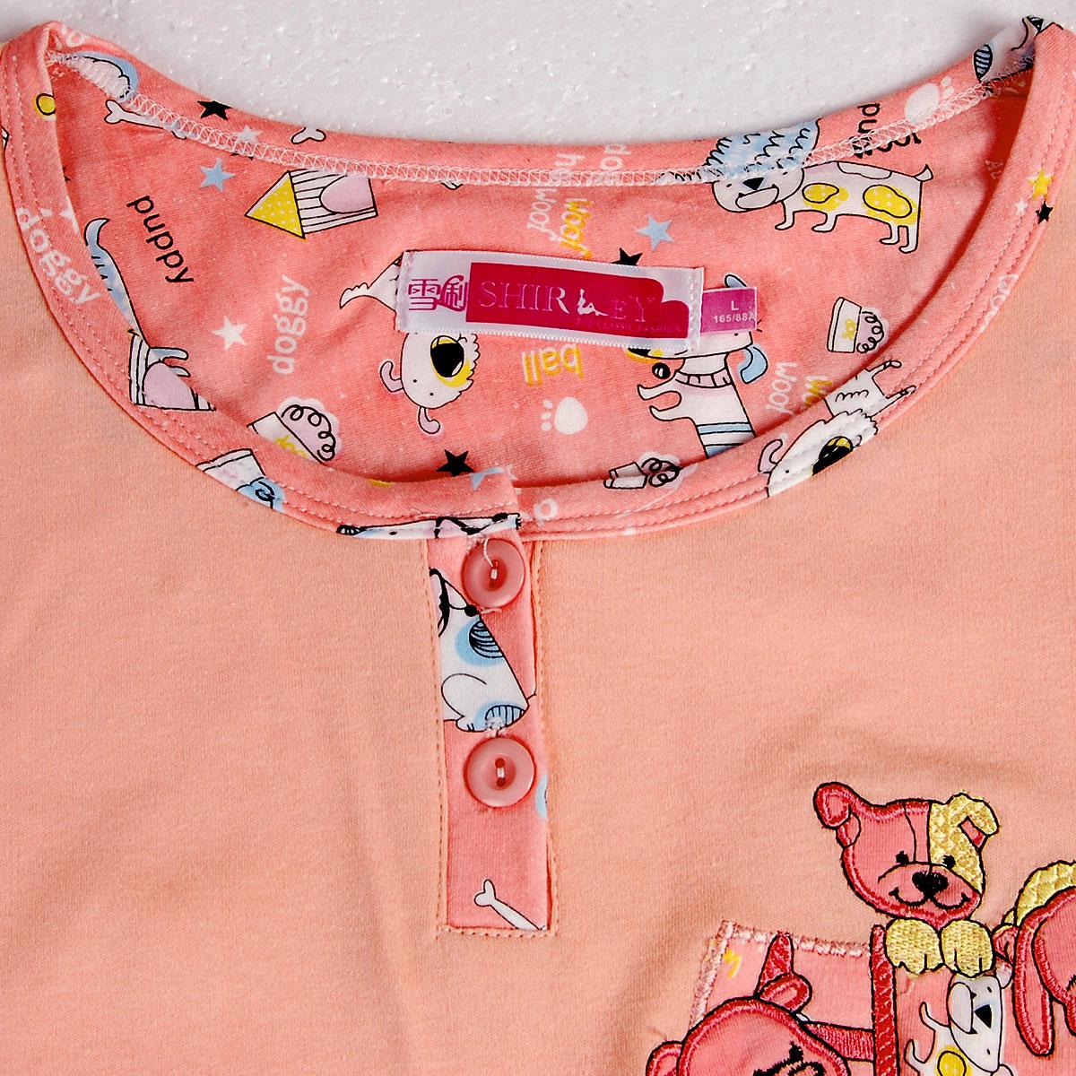 Bayan xue li yaz kısa kollu 100 pamuklu pijama eşofman eğlence