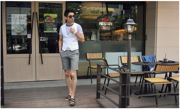POPHOMME 2013 spring-summer Korean new business casual men's solid color v neck vest slim clip