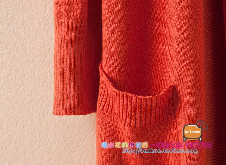 Трикотаж Весна 2014 новых легко плюс размер длинный свитер джемпер вязать свитер пальто женское