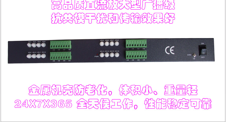 Loosafe Long depending An 16-channel active UTP video transmitter sixteen channel dedicated HD video transmission stability