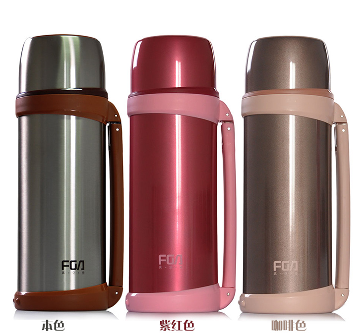 Tomimitsu Owned rich light stainless steel thermos cup large capacity vacuum insulation pot travel pot wide mouth 1800