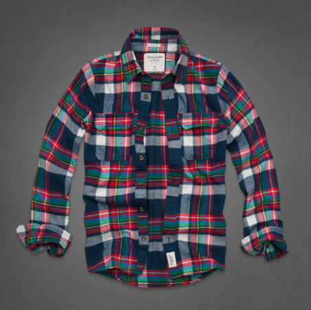 Рубашка мужская Abercrombie & fitch AF Abercrombie Fitch 13 RAILROAD NOTCH
