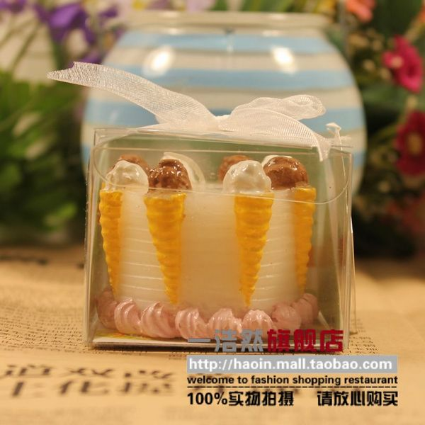 Haoin Cone cake candle new creative romantic birthday gifts round out the birthday candles