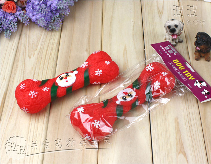 Bobour Wave BOBO vinyl talking Santa Claus bones pet toy dog toy voice bellow