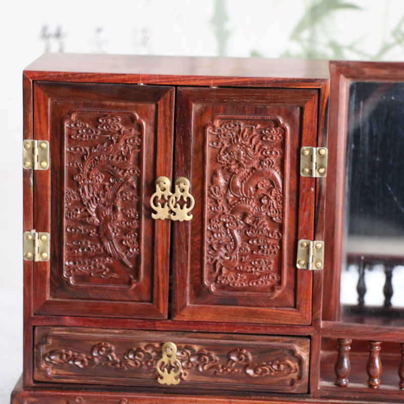 Шкатулка для хранения украшений Мертвый красный палисандр косметическая коробка жемчужину поле ремесла малых