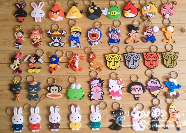 Cutevima Super Mario Cartoon Soft Rubber Cellphone Key Chain