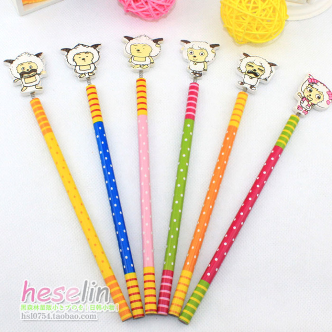 Colorful Cartoon Animals Style Wooden Pencils 2B Student Pencils10pcs B24