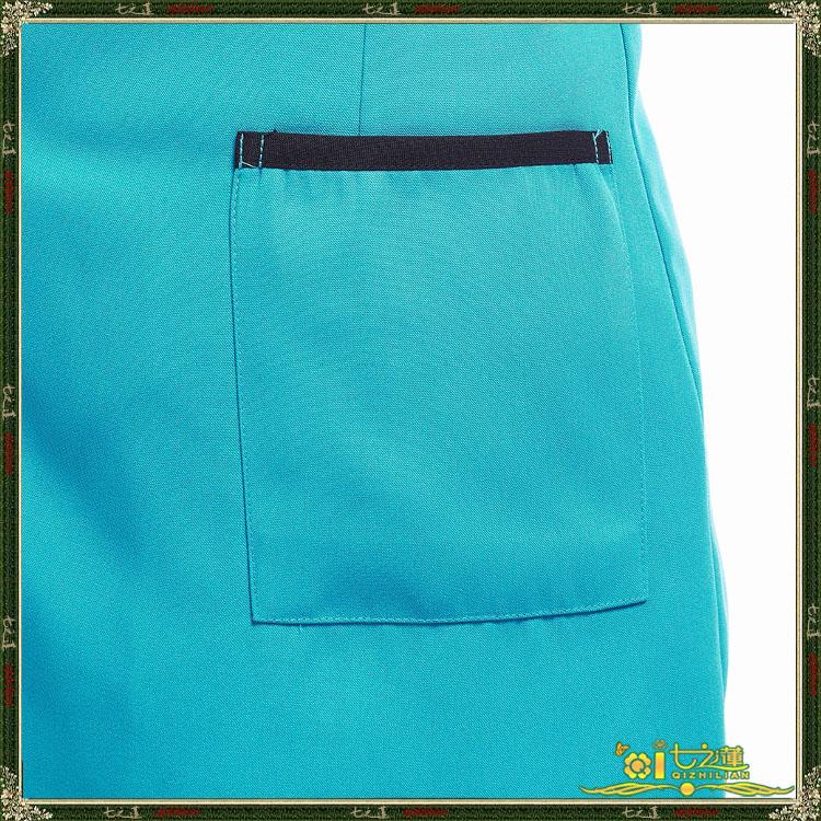 Seven of the lotus Restaurant waiter uniforms Apron Set 7917711W cuff denim blue turban Apron