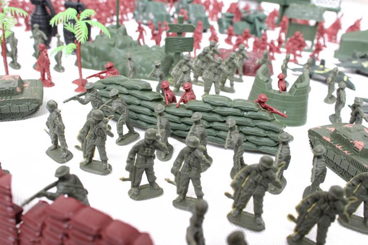 Bazlar modeli plastik oyuncak askerler kolordu askerler modeli asker