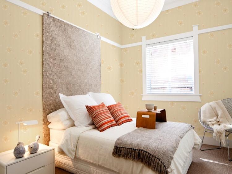 欧式田园壁纸 温馨卧室背景墙壁纸
