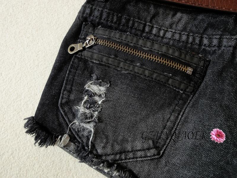 Джинсы женские Новое для осень/зима женские черные джинсовые шорты Корейский сапоги брюки стильные белые вспышки отверстие молнию карман