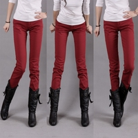 Женские джинсы Candy pants women's 100% cotton skinny pants jeans plus size legging trousers mid waist pencil pants 3008