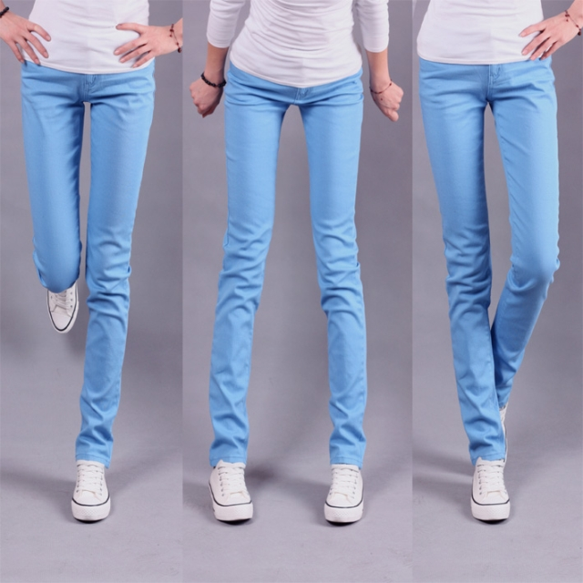 Fantastic Hot Plus Size High Waisted Jeans Light Blue Pants Women39s Clothing
