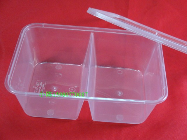 Chanbowl Cutlery 750ml Mei Yang 15484 disposable plastic lunch box lunch box lunch box snack box packing box green 300 sets