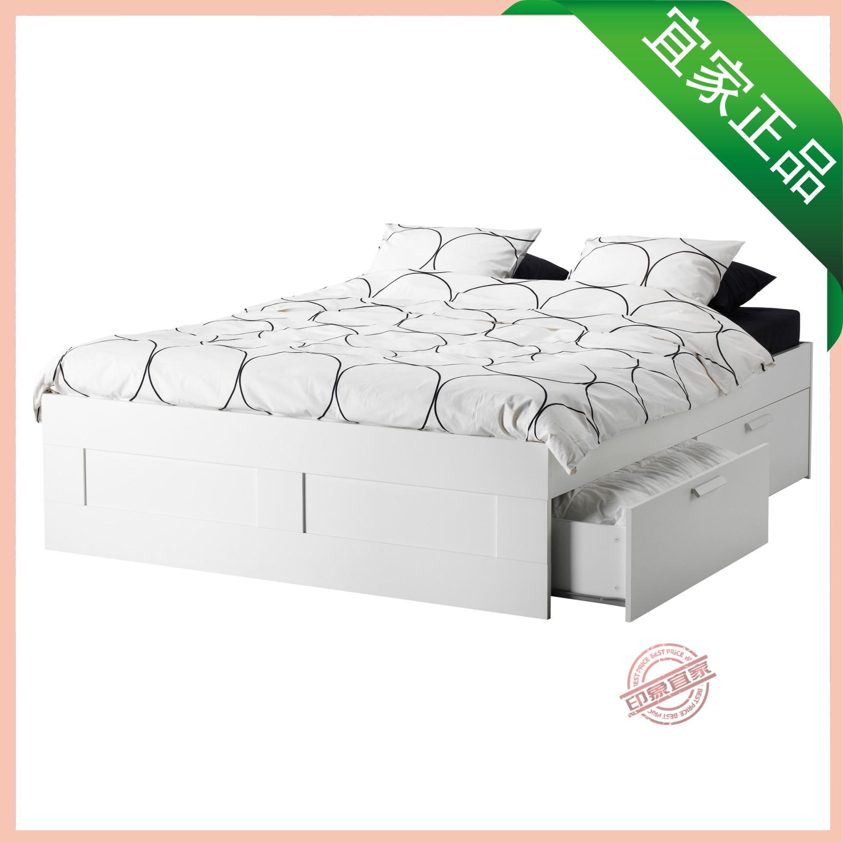 каркас кровати IKEA ИКЕА Браун Белый 199.029.43 кровати IKEA кадра с хранения покупки кровати