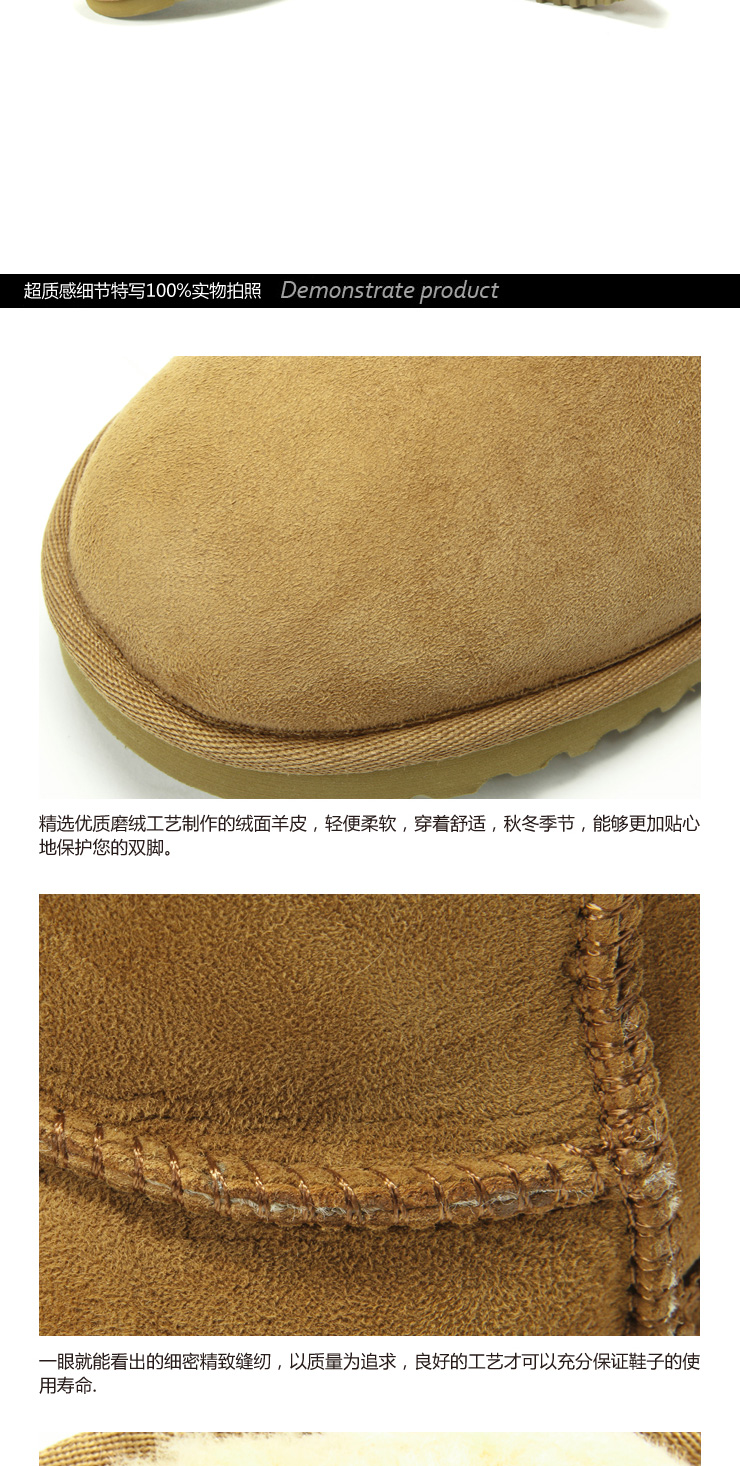 Camel Outdoor shoes outdoor recreation a genuine warmth of camel wool-one snow boots women boots