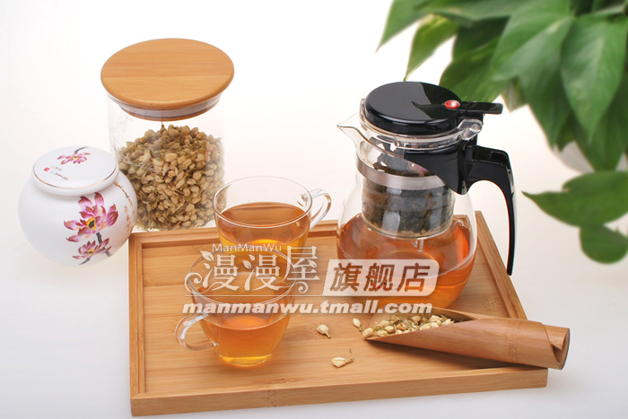Manman Long House authentic Taiwan water heat-resistant glass and elegant glass tea cup flowers filter Kung Fu tea sets