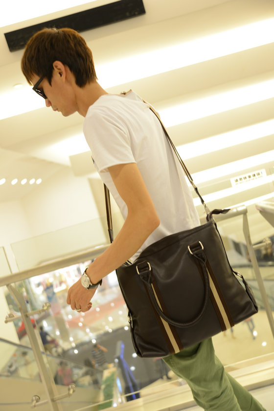 Men's bag handbag new package Korean leisure travel packages baodan oblique carry large bag bag computer bag shoulder bag men