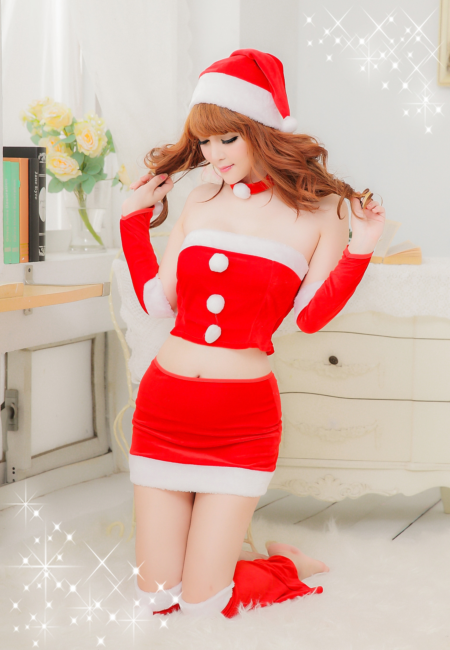 Joyous Christmas with Christmas costumes Christmas costume role play uniforms temptations nightclub bar girls costume