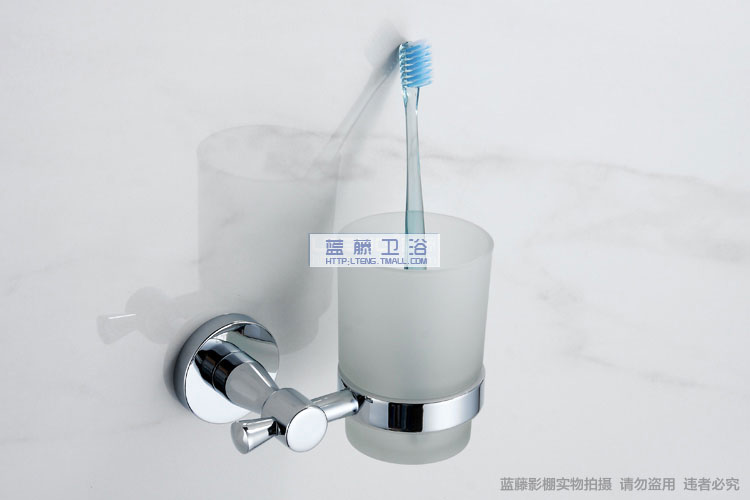 LTENG Blue vine Copper Glass Tumbler holder toothbrush cup Cups toilet Cup LT - 9858