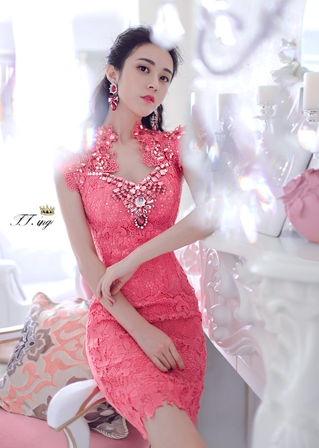 The Newmont, 8103 #2015 Ching Ching Sau to the Parquet drill Lace Embroidery of red and dresses evening dress of red pictures, price, brand platters! Elections are good character, the national distribution, so why buy now enjoy more preferential! Health
