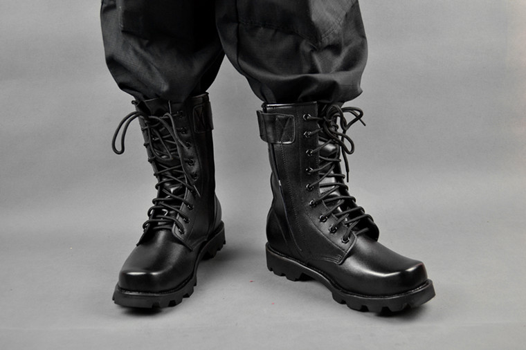 3615 authentic men's boots men's high-top boots single boots Korean special forces leather steel toe boots steel bottom X2012