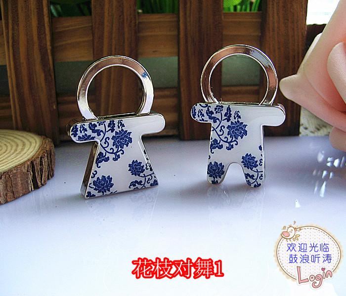 HOLI Korean cartoon couple key chain key ring couple creative gifts to send customized printable carving