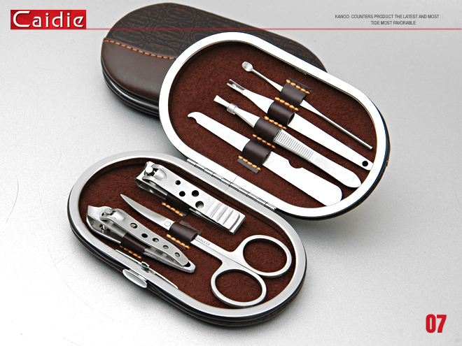 Caide Personal Care Stainless Steel Manicure Set 7Pcs