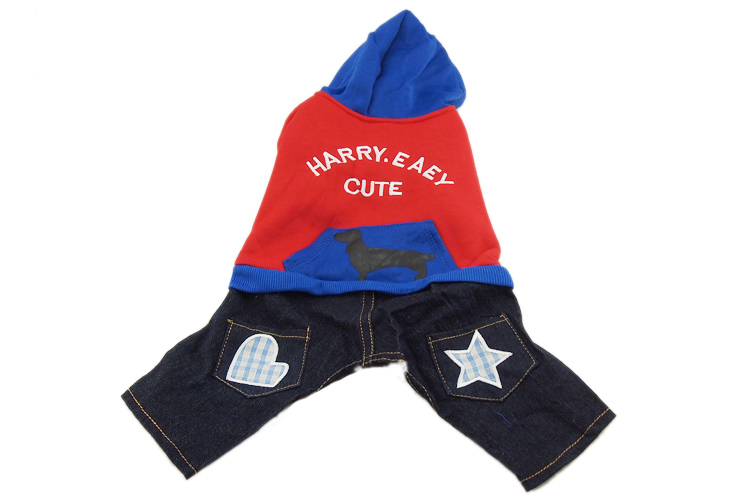 Star podcasts winter dog apparel costume Teddy pet clothes tetrapod yidai Hat cowboy package mail 038