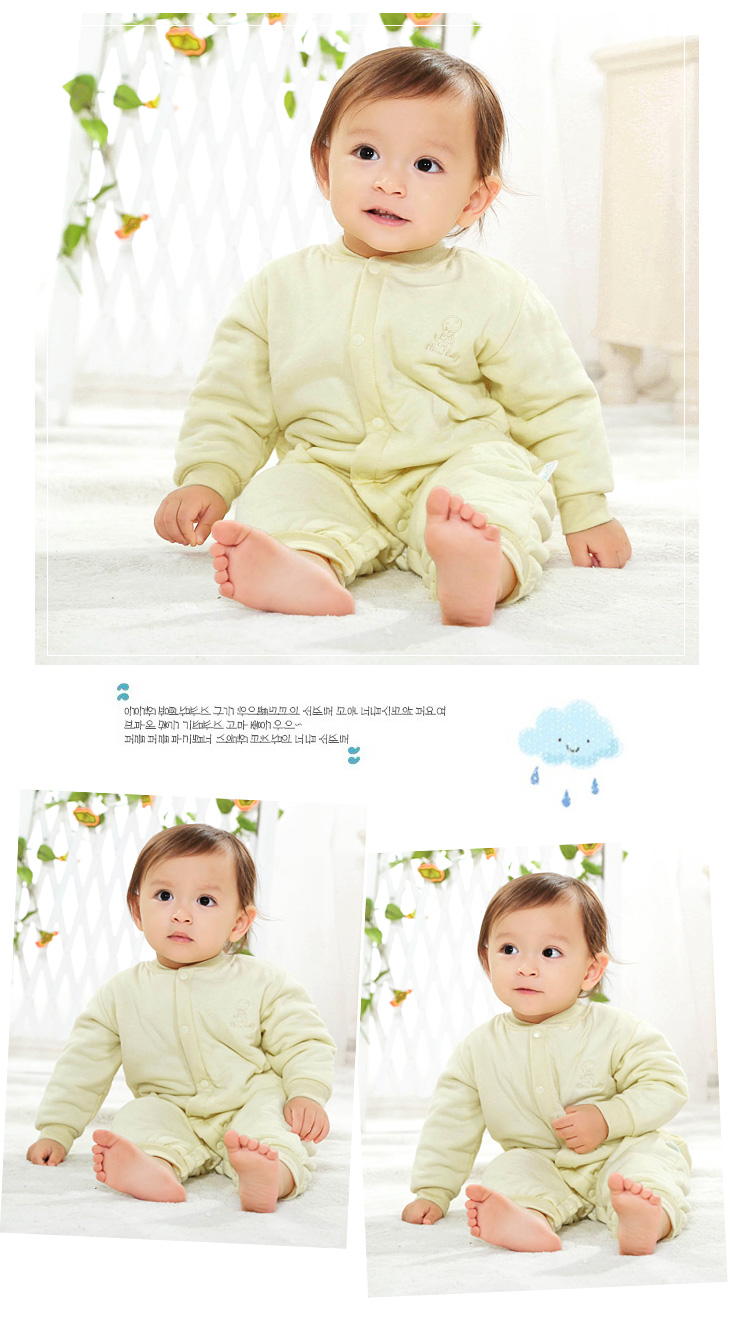 Yebebare Cloud baby fall children's clothing cotton baby onesies Antarctica thickened warm baby dress length sleeve climbing clothing