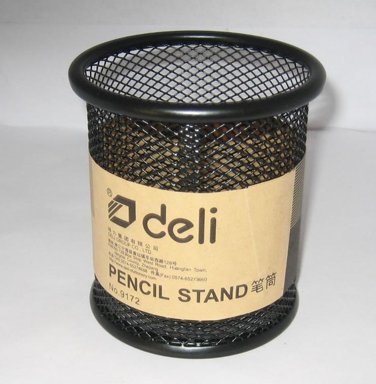 Deli 9172 metal mesh pen holder Pen Genuine Deli Universal Pen Pen Pen Office