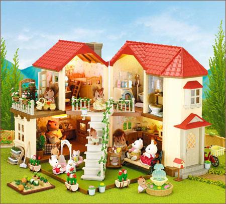 Игрушки для кукольных домиков [Счетчики аутентичные] sylvanian семей семьи фонари лесной дом 27528