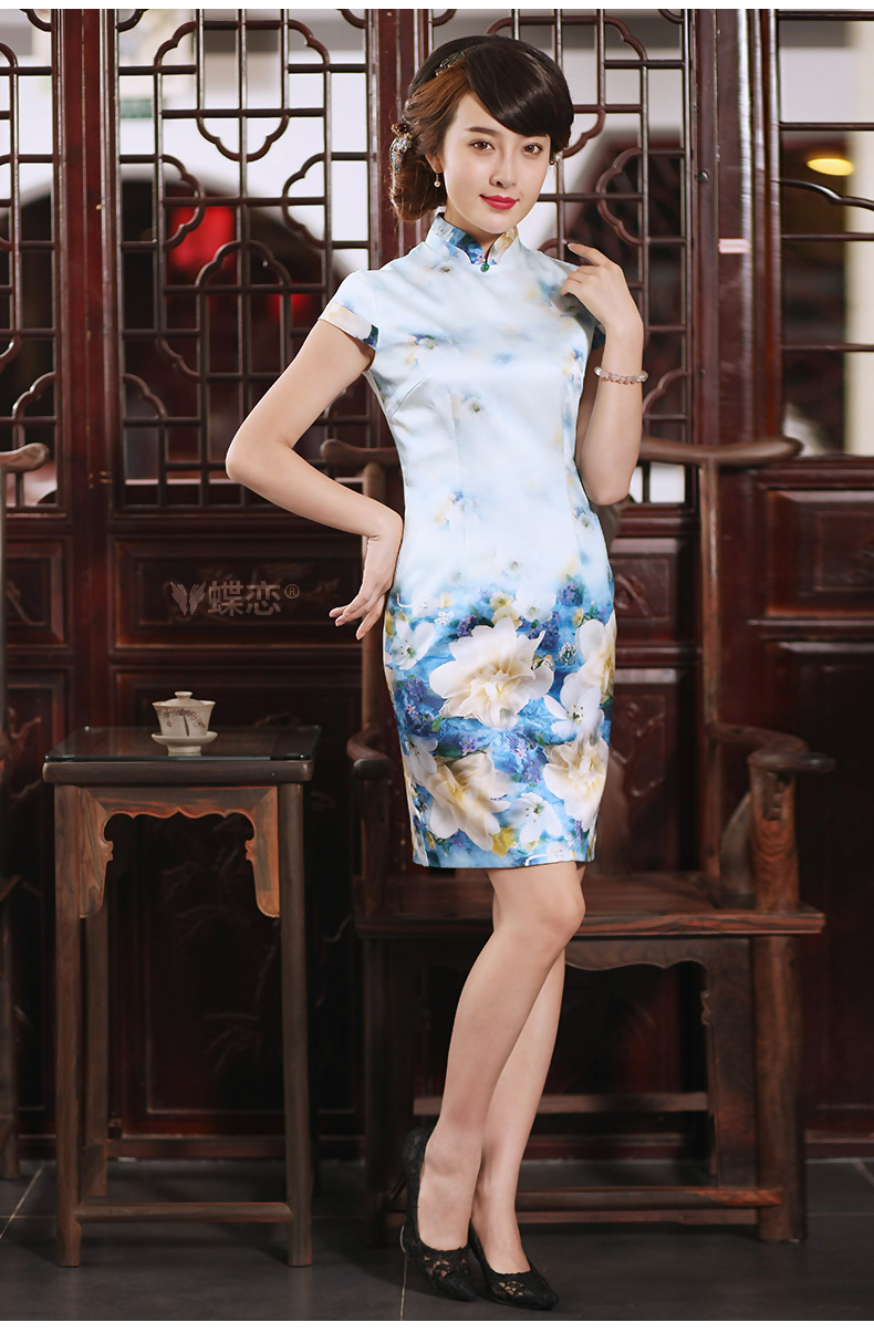 Butterfly Lovers 2015 new dresses cheongsam short summer stylish improved daily short-sleeved Silk Cheongsam 55,277 figure - pre-sale 20 days XXL pictures, price, brand platters! Elections are good character, the national distribution, so why buy now enjoy more preferential! Health