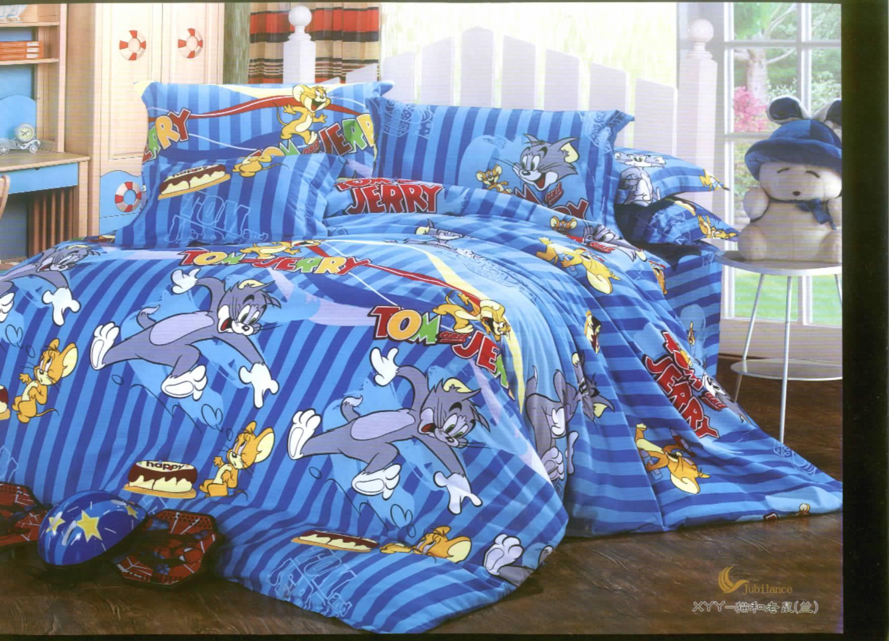 Простыни, Комплекты Бесплатный заказ пользовательские листы кровать Mikasa одеяло Одеяло Обложка премиум шлифованная ткань хлопок хлопок sueding * кота и мыши *