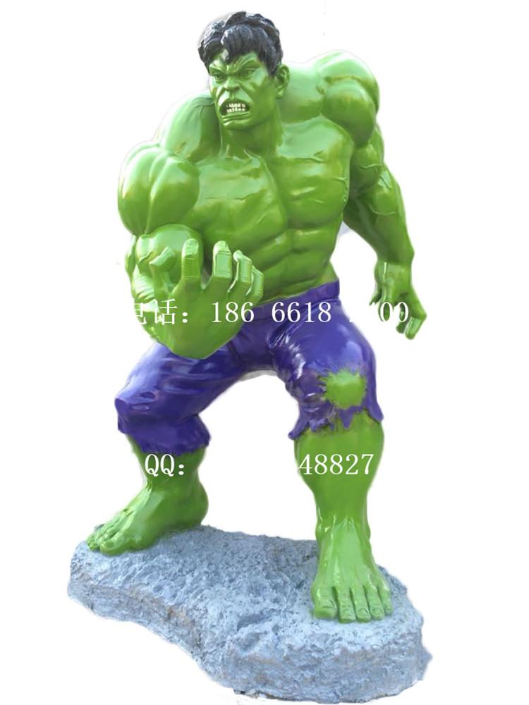 大型绿巨人雕塑 超人蝙蝠侠钢铁侠大黄蜂蜘蛛侠电影人物展