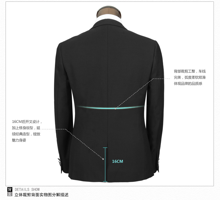 Yeesye HSEEN Han Chen new men's suits of Korean slim suits groom wedding dress HS051
