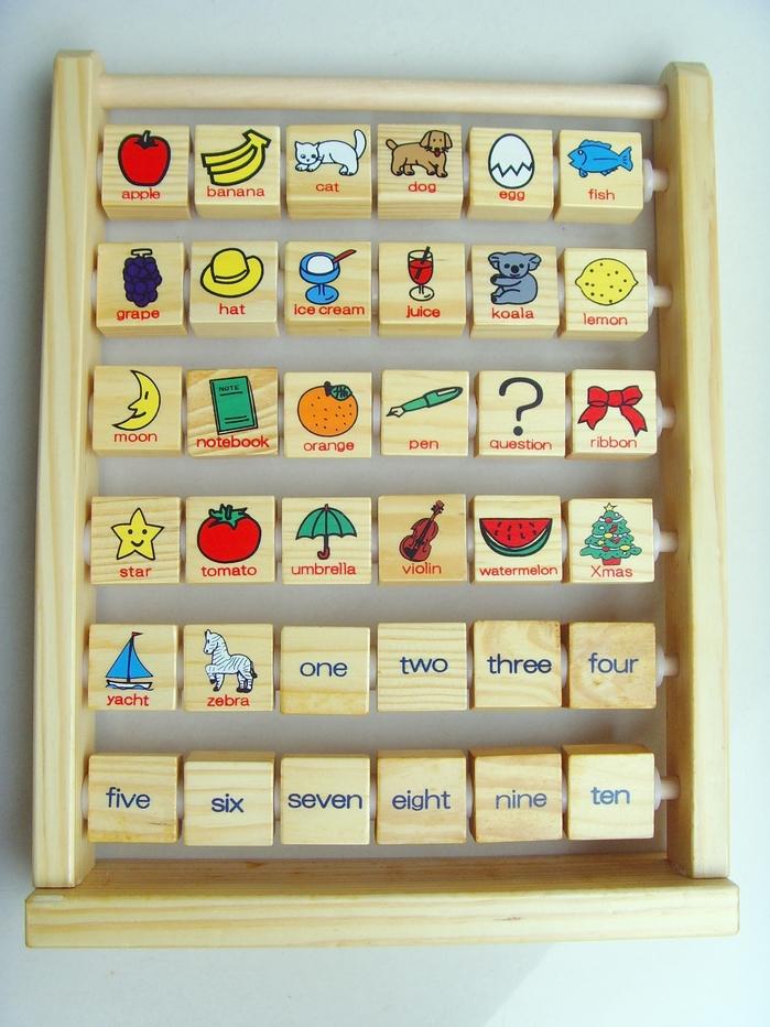 XYZ Japanese original packaging learning the alphabet, English words 36 flap rack toys