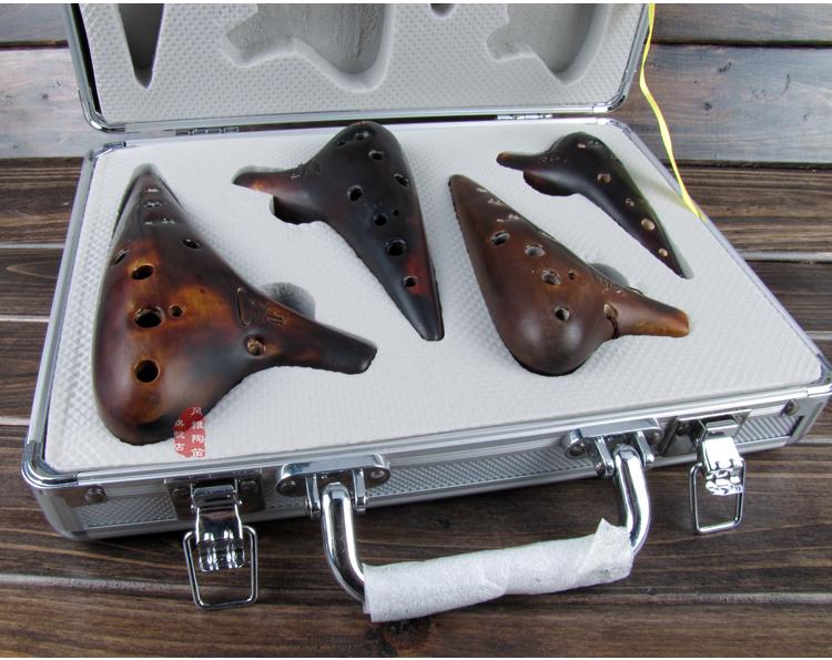 CGF 高音 C 中音 孔陶笛 12 件套 4 十二孔熏烧四件套 正品 风雅陶笛