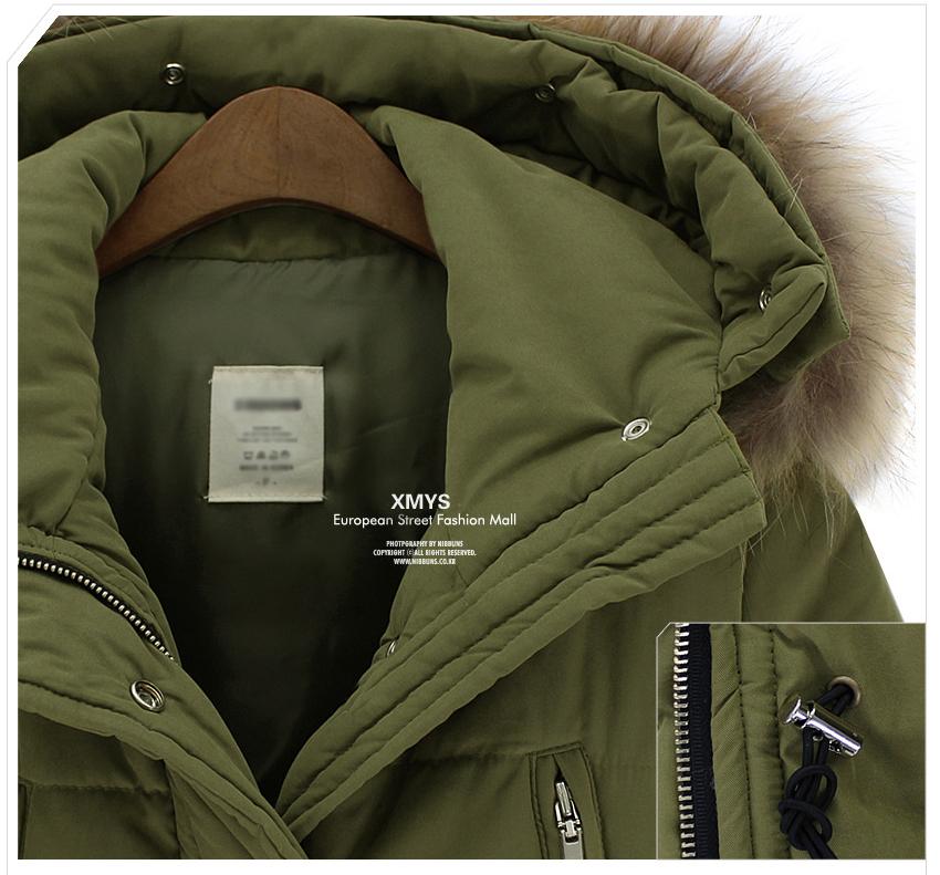 Женская утепленная куртка Зима 2013 плюс размер хлопка женщин длинные енота меховой воротник пальто женщин Европы пальто мягкий куртка женская одежда